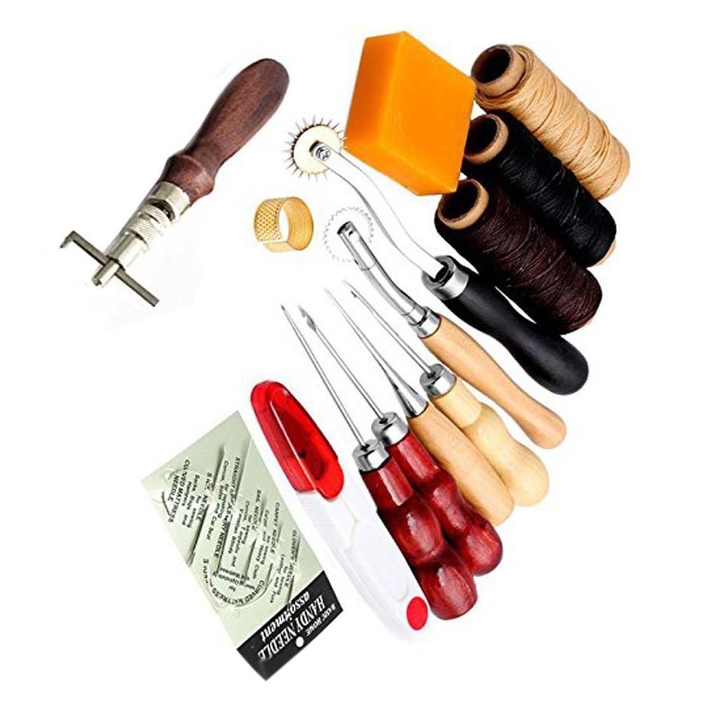 Naehen Lieferungen Zubehoer Werkzeuge, Leder Handwerk Hand Naehen Naehen We N4X3