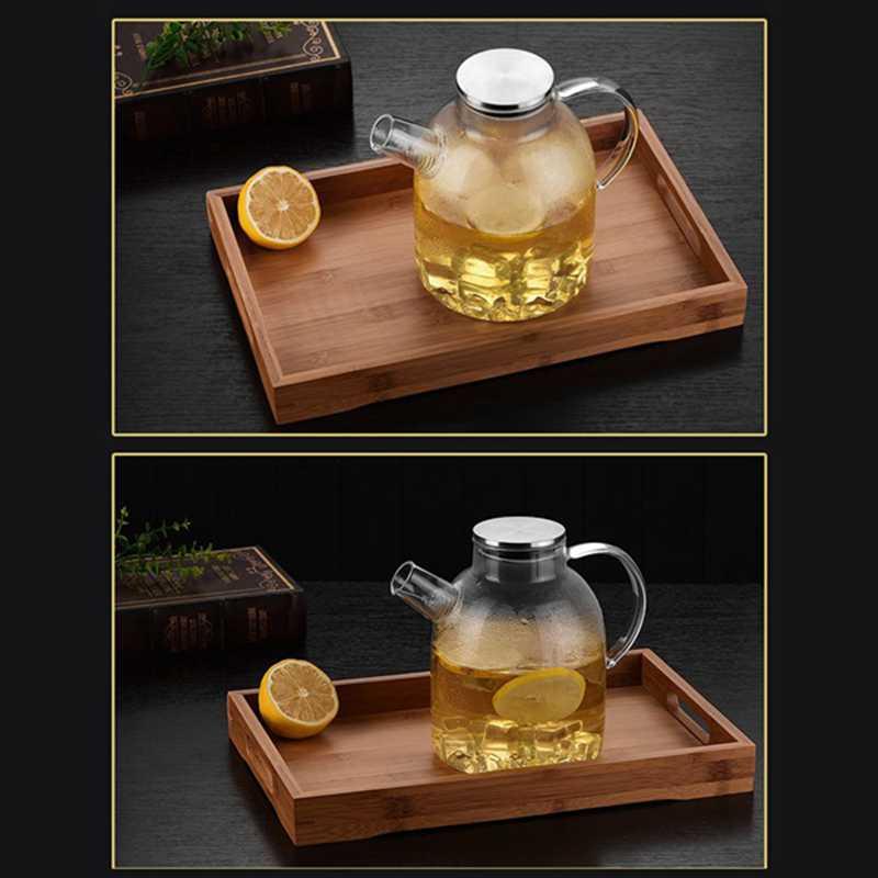 glas wasserkocher teekanne kaffee saftkrug mit edelstahl sieb funktionelle r2a3 ebay. Black Bedroom Furniture Sets. Home Design Ideas