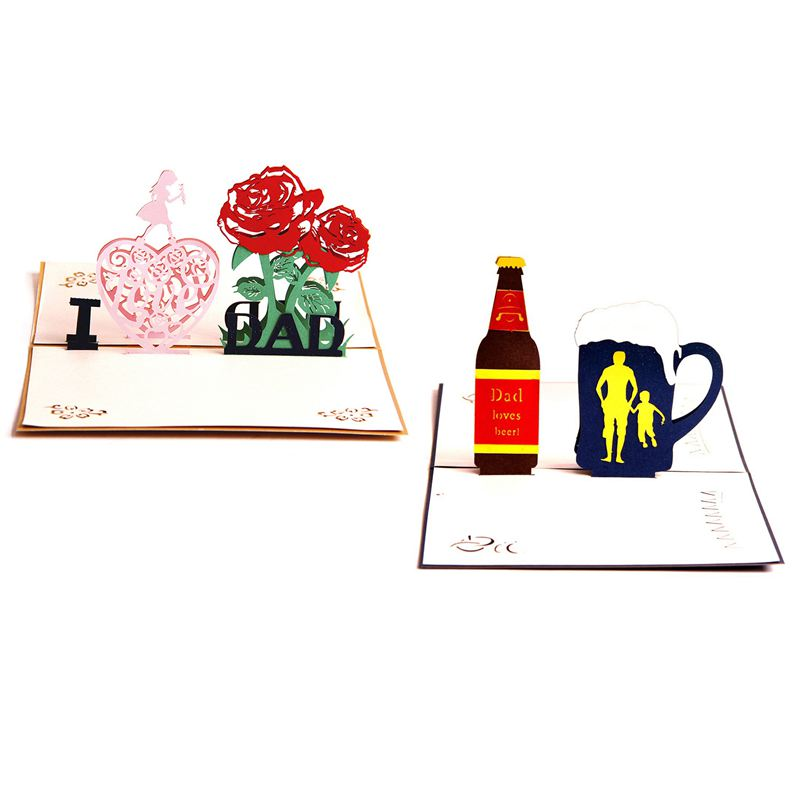 Ade Pop Up Greeting Cards For Father Birthday Gift Pack Of 2 Dad