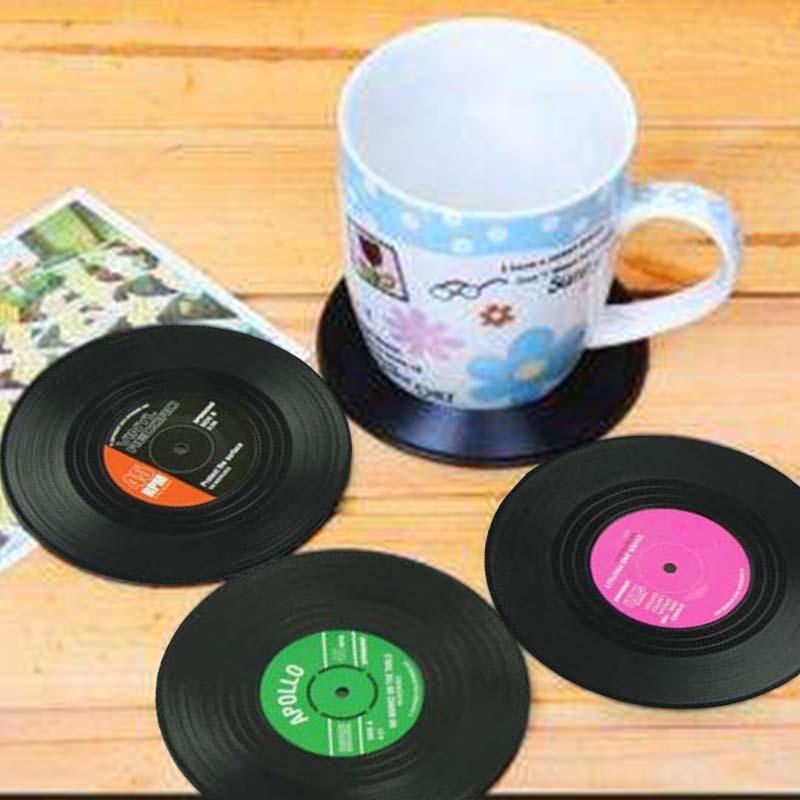 6pieces-Set-Spinning-retro-del-disco-de-vinilo-bebidas-Posavasos-Mat-L9Y7-ST