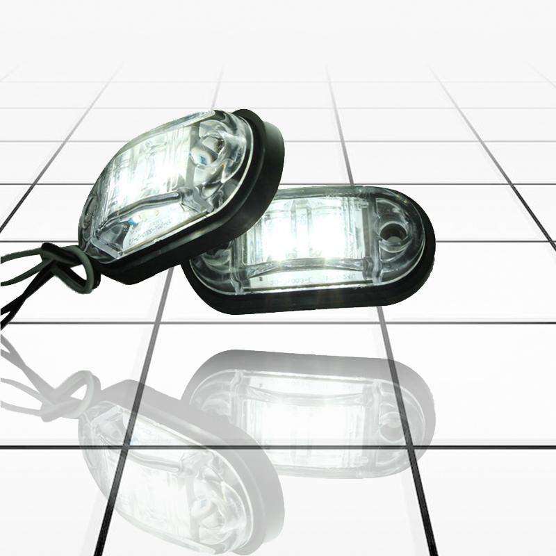 12V-24V-2-LED-Lampara-luces-de-marcador-lateral-para-remolque-camion-coche-U5 miniatura 3