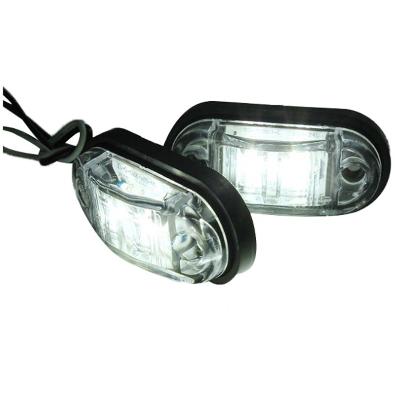 12V-24V-2-LED-Lampara-luces-de-marcador-lateral-para-remolque-camion-coche-U5 miniatura 4