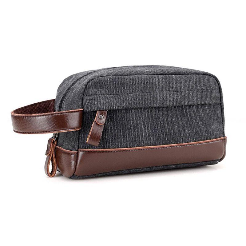 cfb5638ba5 Toiletry Organizer Bag for Men Canvas Dopp Kits Shaving Kit( Black ...