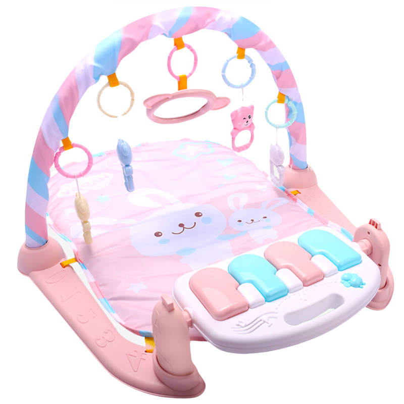 Baby Play Mat Baby GymToys 0-12 Months Soft Lighting Rattles Musical Toys F U4J1
