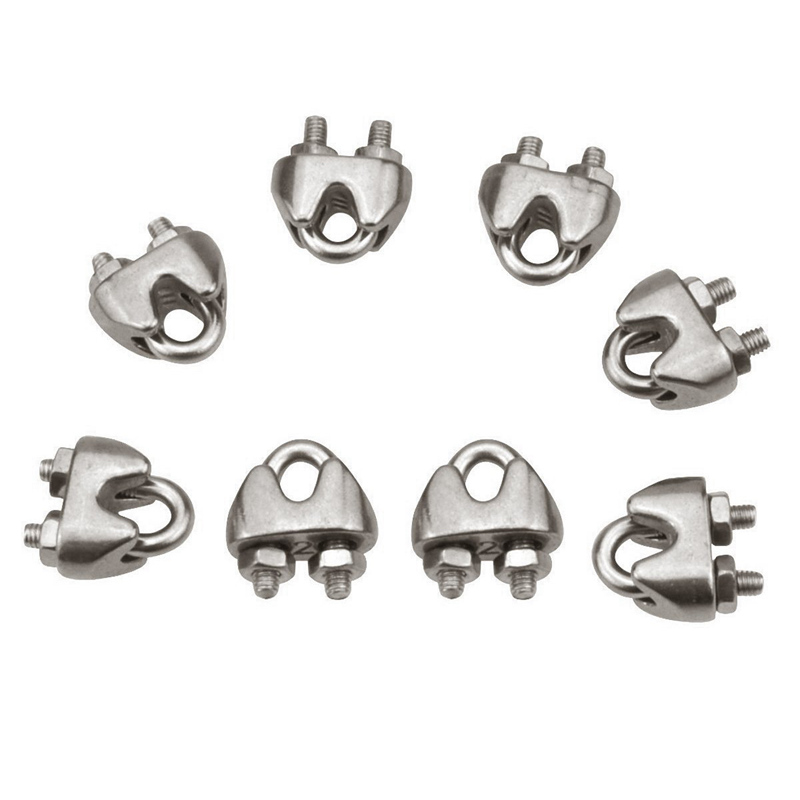 WIRE ROPE CLIPS-M2 Stainless Steel Cable Clamp Saddle Fastener for ...