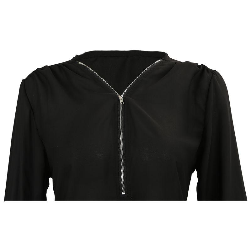 Chaqueta-de-V-cuello-de-cremallera-de-mujer-de-moda-de-primavera-otono-Cami-J2L2 miniatura 5