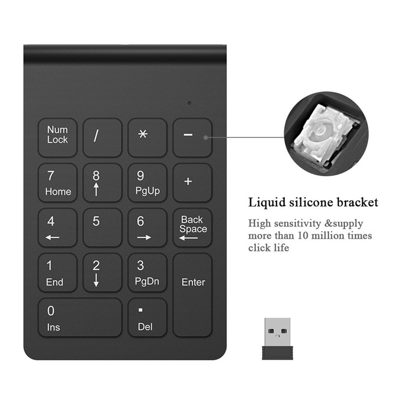 Wireless-2-4GHz-18-Keys-Number-Pad-Numeric-Keypad-Keyboard-for-Laptop-PC-amp-W6V9 thumbnail 11