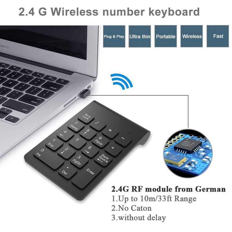 Wireless-2-4GHz-18-Keys-Number-Pad-Numeric-Keypad-Keyboard-for-Laptop-PC-amp-I4N2 thumbnail 14