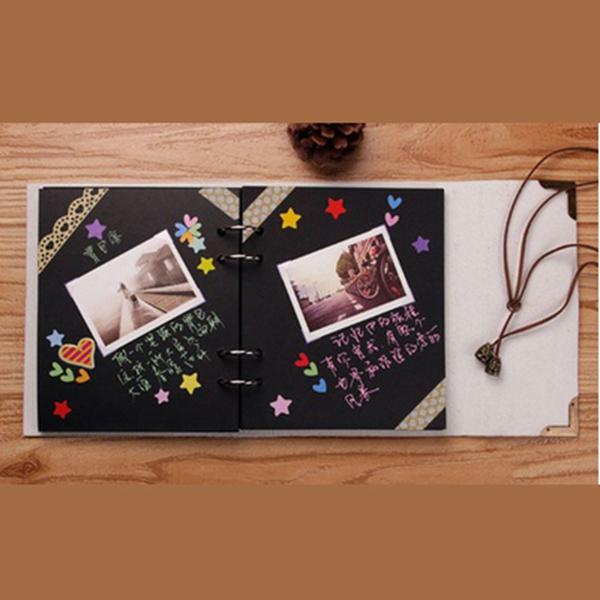 Sheets-Card-Love-Theme-Wedding-DIY-Handmade-Photo-Scrapbooking-Album-White-N4G5 thumbnail 3