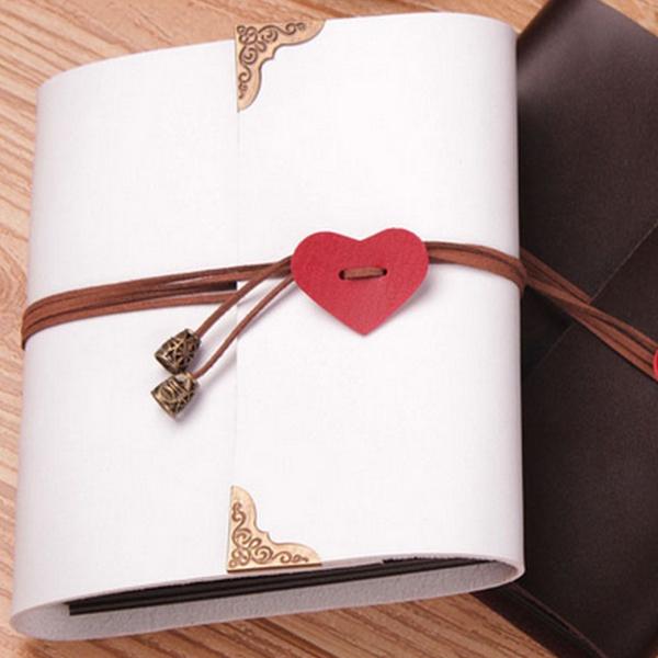 Sheets-Card-Love-Theme-Wedding-DIY-Handmade-Photo-Scrapbooking-Album-White-N4G5 thumbnail 7
