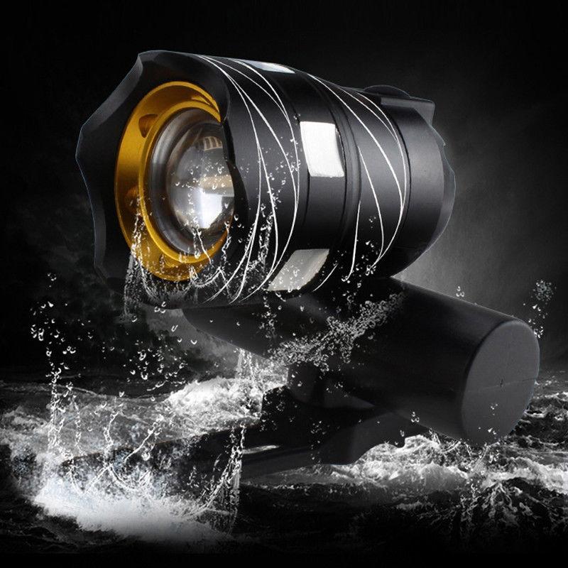 Luz-delantera-de-bicicleta-impermeable-LED-T6-recargable-USB-Lampara-luz-de-PB miniatura 4