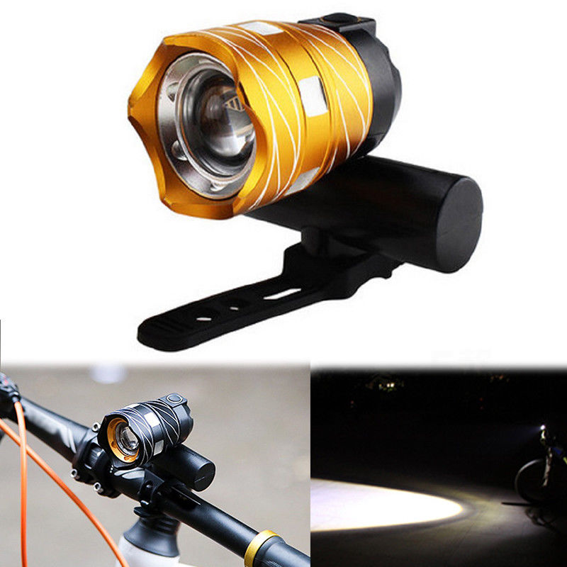 Luz-delantera-de-bicicleta-impermeable-LED-T6-recargable-USB-Lampara-luz-de-PB miniatura 8
