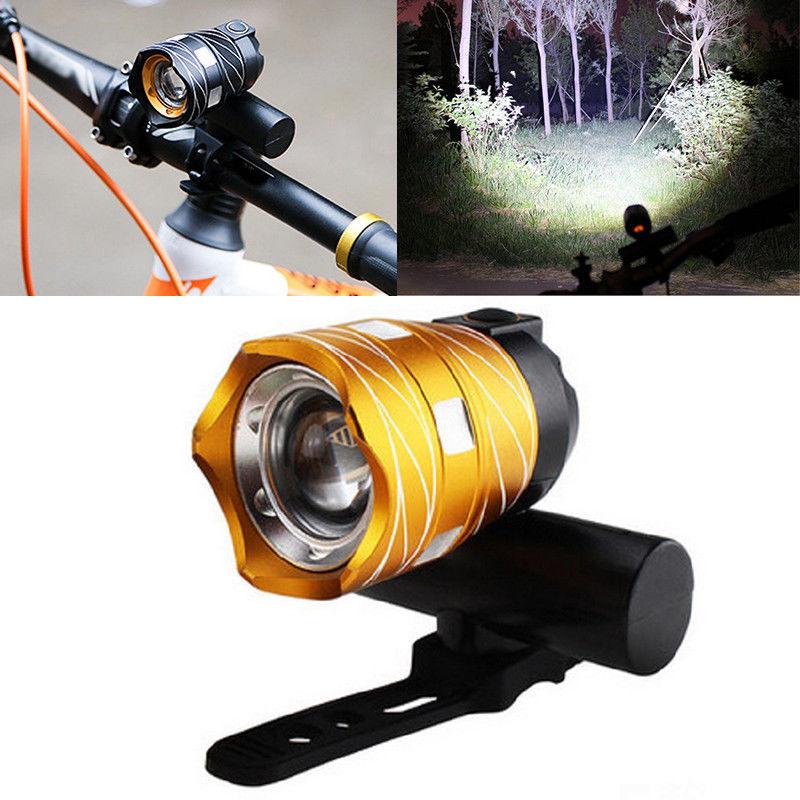 Luz-delantera-de-bicicleta-impermeable-LED-T6-recargable-USB-Lampara-luz-de-PB miniatura 12