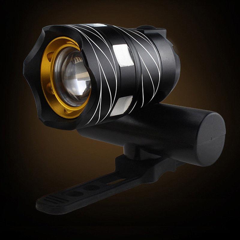 Luz-delantera-de-bicicleta-impermeable-LED-T6-recargable-USB-Lampara-luz-de-PB miniatura 19