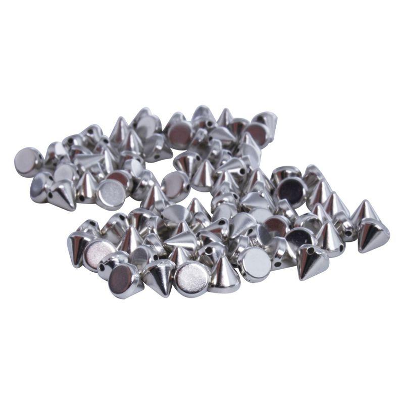 R 100X Apliques Remaches Metal 14mm Triangulo Tachuelas Bolsa//Calzado//Guante SODIAL