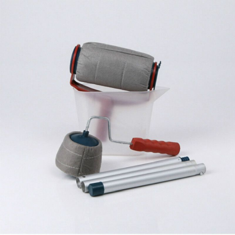 s-Pro-Paint-Roller-Brush-Handle-Flocked-Edger-Room-Wall-Painting-Runner-Set-H3X9