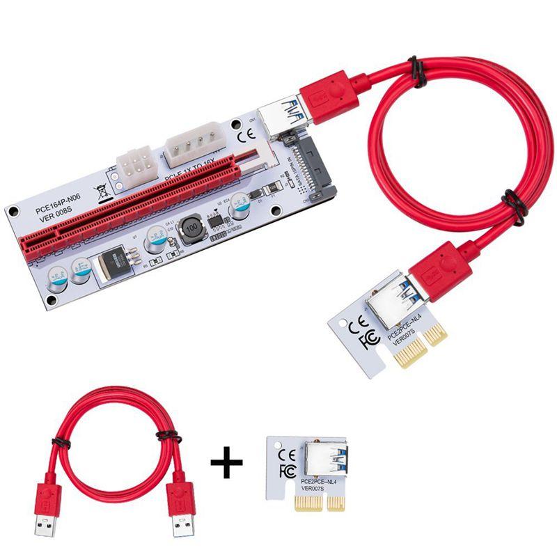USB-3-0-Pcie-PCI-E-Express-1X-To-16X-GPU-Extender-Riser-Card-Adapter-T6M8 thumbnail 3