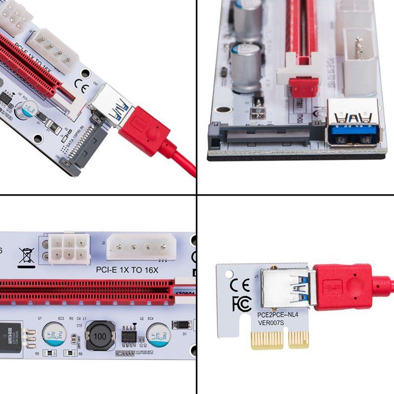 USB-3-0-Pcie-PCI-E-Express-1X-To-16X-GPU-Extender-Riser-Card-Adapter-T6M8 thumbnail 4