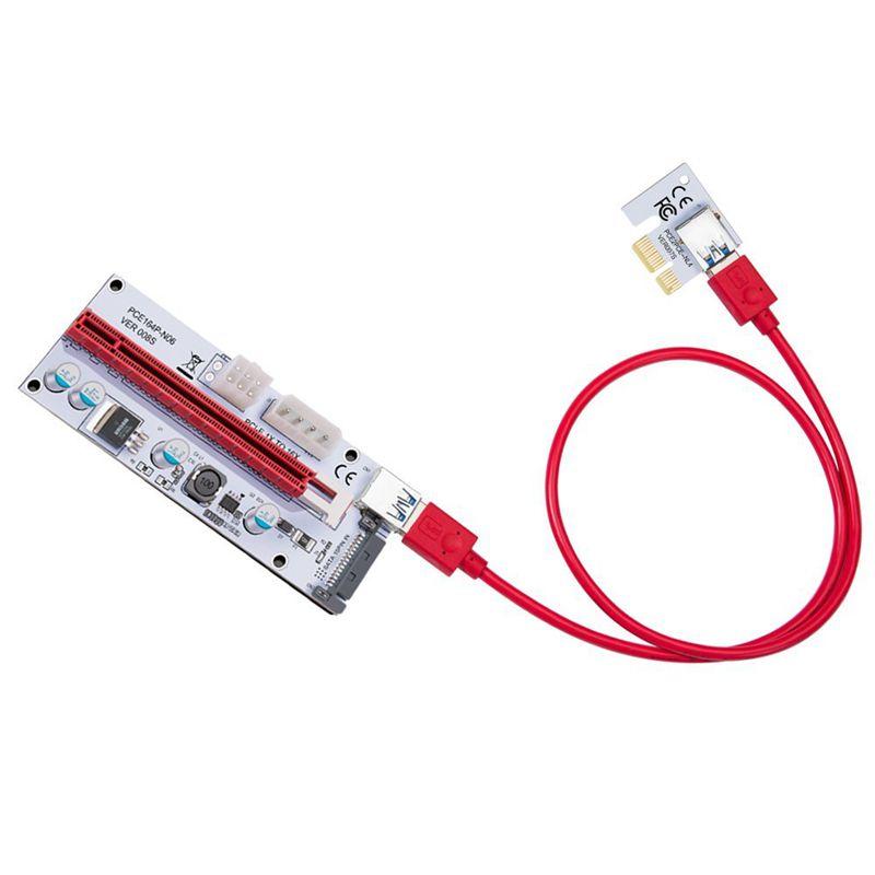 USB-3-0-Pcie-PCI-E-Express-1X-To-16X-GPU-Extender-Riser-Card-Adapter-T6M8 thumbnail 7