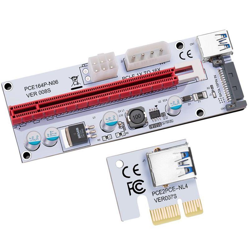 USB-3-0-Pcie-PCI-E-Express-1X-To-16X-GPU-Extender-Riser-Card-Adapter-T6M8 thumbnail 8