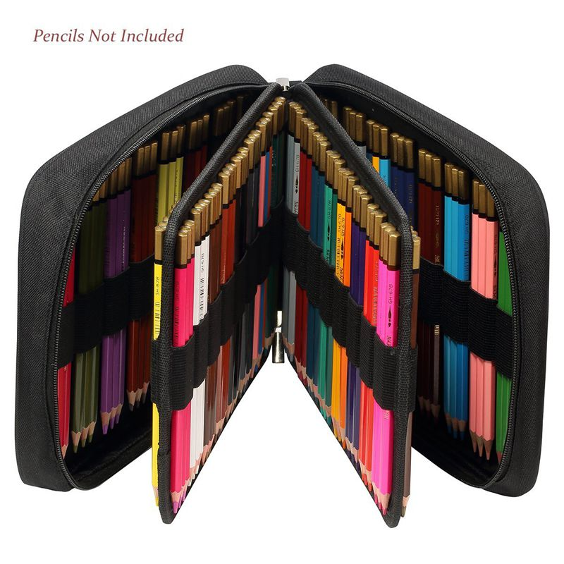 Bolsa-de-150-ranuras-de-Lapices-de-colores-Lapiz-universal-Estuche-de-pluma-L5A9