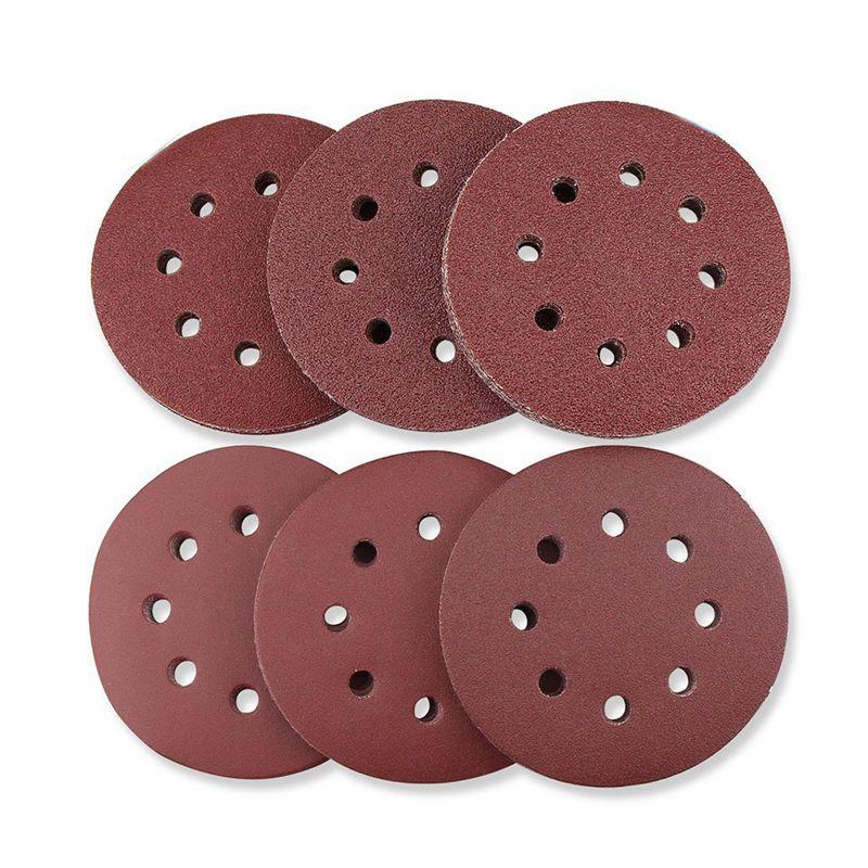 66-PCS-de-5-pulgadas-8-agujero-Discos-de-lijado-circular-sin-polvo-gancho-lijado