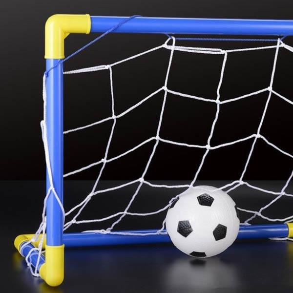 Indoor-Mini-Folding-Football-Soccer-Ball-Goal-Post-Net-Set-Pump-Kids-Sport-A1U1