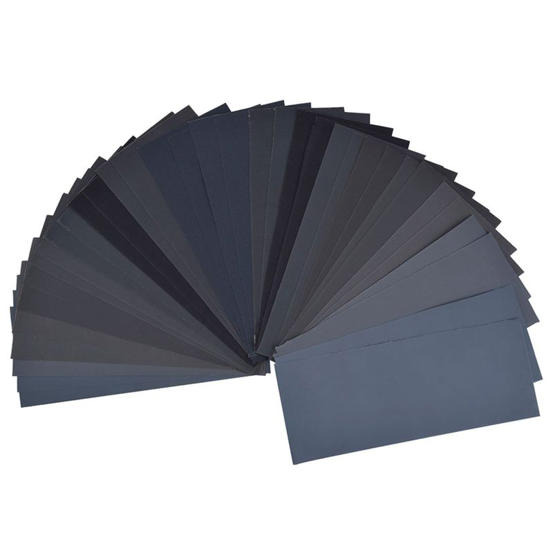 10X(36 Pieces 400 to 3000 Grit Sandpaper Assortment, Dry  Wet, 9 x 3.6 Inch E3N7