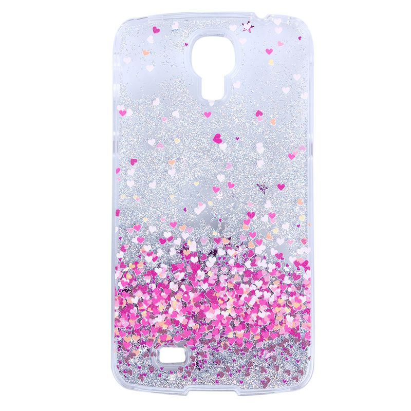 buy popular 1430e 46be1 For Samsung Galaxy S4 Hard Case, Liquid Case 3D Flowing Clear Glitter  Plastic6R6