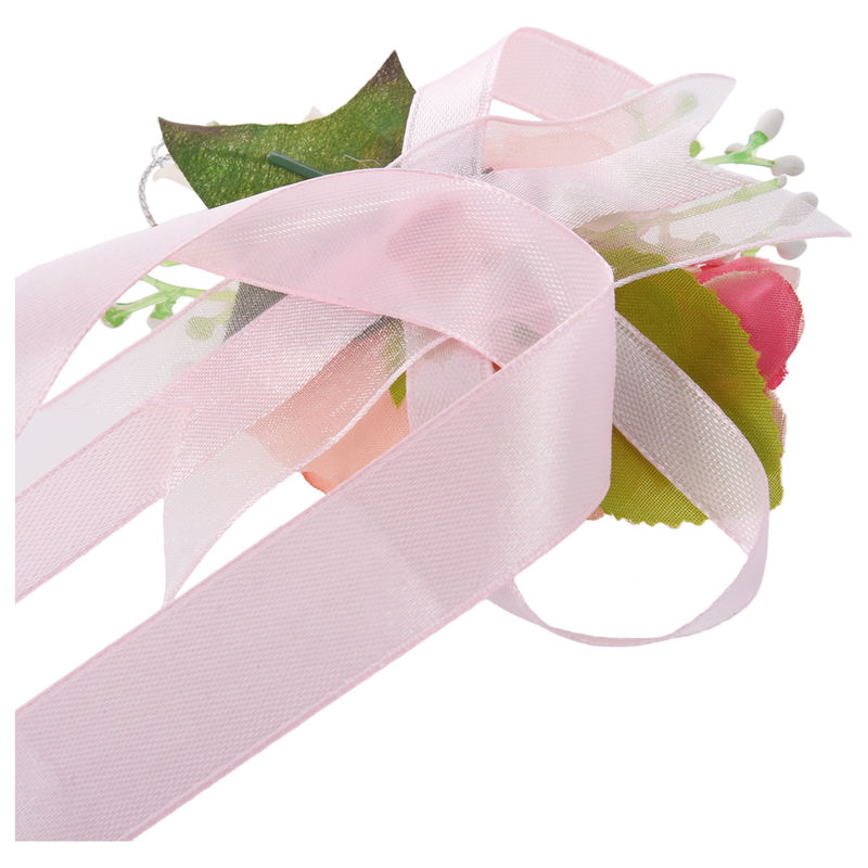 Wrist-Corsage-Bracelet-Bridesmaid-Hand-Flower-Wedding-Party-dark-blue-M3Q1 thumbnail 8