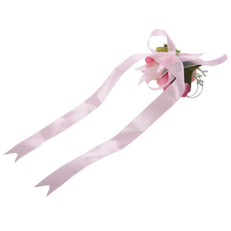 Wrist-Corsage-Bracelet-Bridesmaid-Hand-Flower-Wedding-Party-dark-blue-M3Q1 thumbnail 21