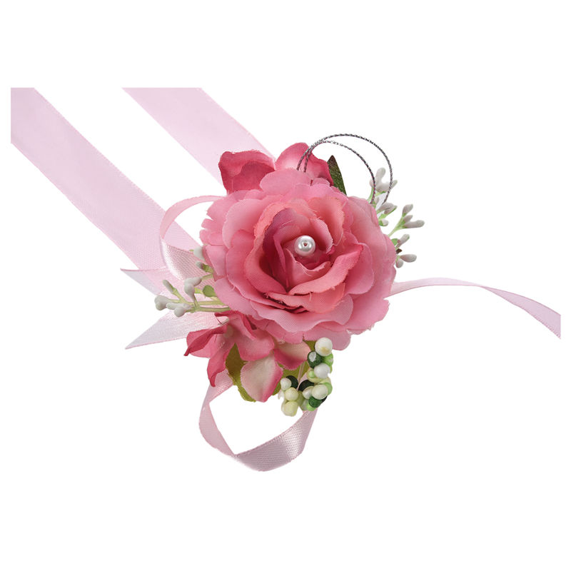Wrist-Corsage-Bracelet-Bridesmaid-Hand-Flower-Wedding-Party-dark-blue-M3Q1 thumbnail 22