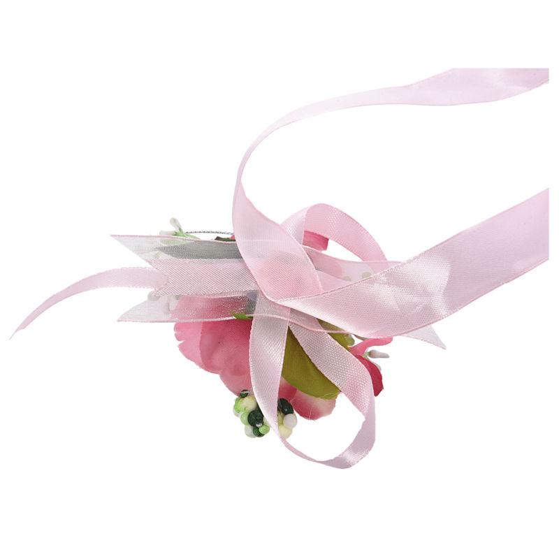 Wrist-Corsage-Bracelet-Bridesmaid-Hand-Flower-Wedding-Party-dark-blue-M3Q1 thumbnail 23
