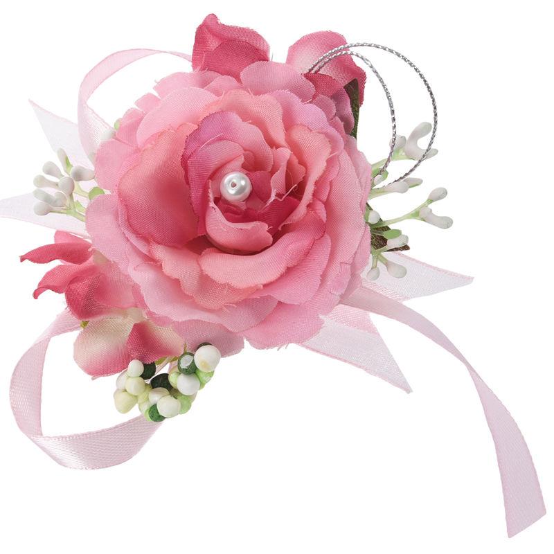 Wrist-Corsage-Bracelet-Bridesmaid-Hand-Flower-Wedding-Party-dark-blue-M3Q1 thumbnail 24