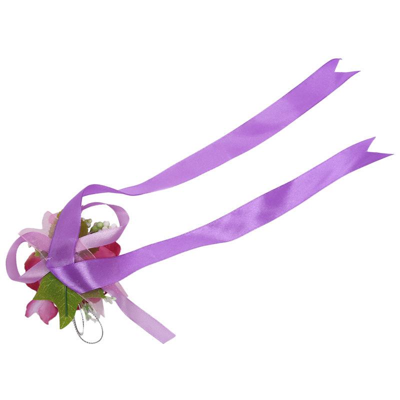 Wrist-Corsage-Bracelet-Bridesmaid-Hand-Flower-Wedding-Party-dark-blue-M3Q1 thumbnail 29