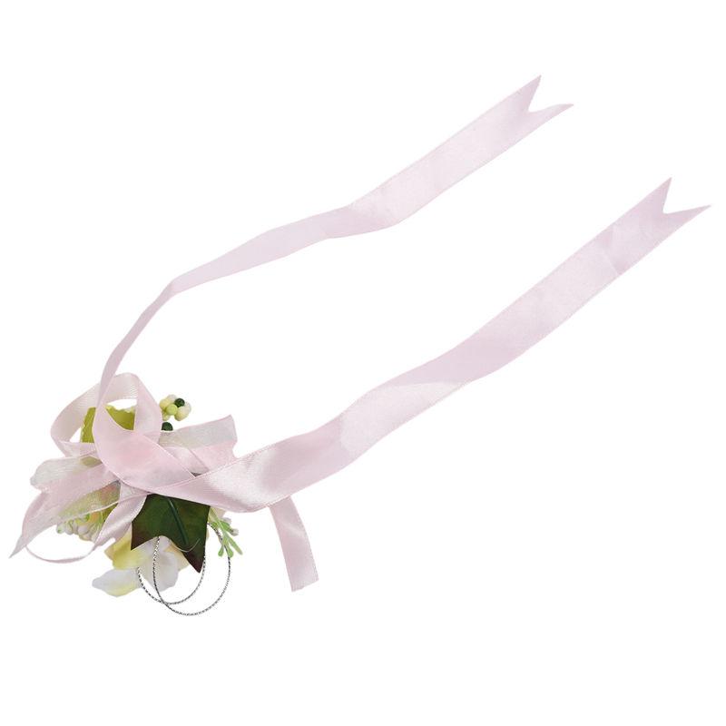 Wrist-Corsage-Bracelet-Bridesmaid-Hand-Flower-Wedding-Party-dark-blue-M3Q1 thumbnail 35