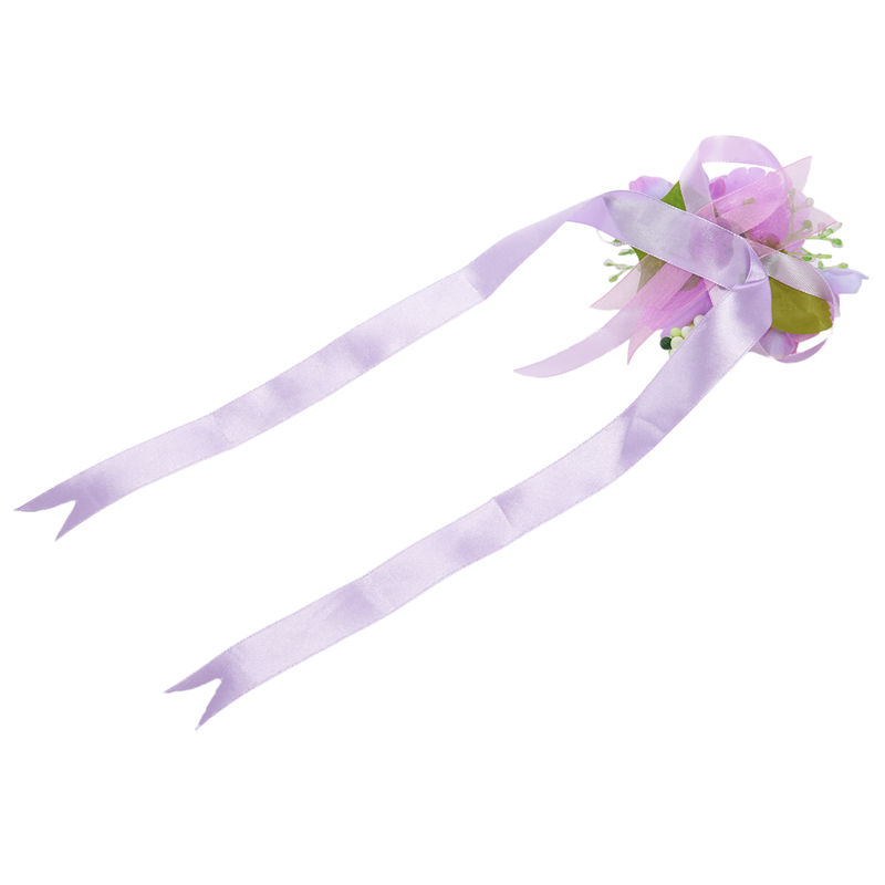 Wrist-Corsage-Bracelet-Bridesmaid-Hand-Flower-Wedding-Party-dark-blue-M3Q1 thumbnail 39