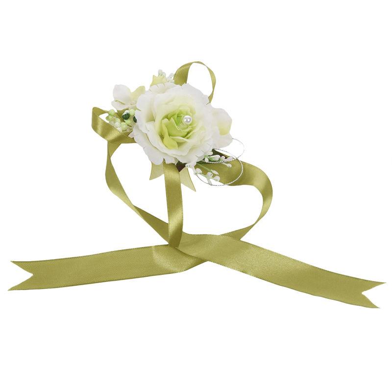 Wrist-Corsage-Bracelet-Bridesmaid-Hand-Flower-Wedding-Party-dark-blue-M3Q1 thumbnail 44