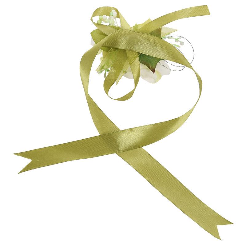 Wrist-Corsage-Bracelet-Bridesmaid-Hand-Flower-Wedding-Party-dark-blue-M3Q1 thumbnail 45