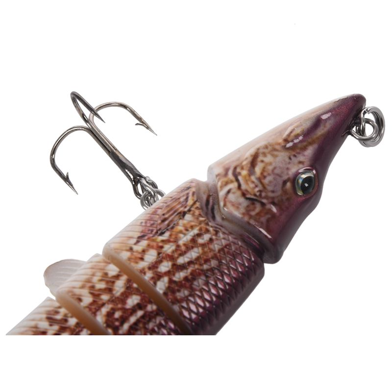 8-034-20cm-Pike-Maskinonge-peche-leurre-Articule-Crankbait-dur-appat-Tackle-K3W8 miniature 16