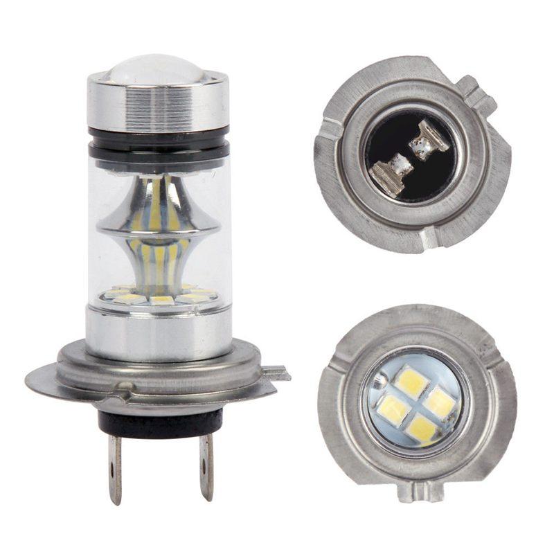 7x 1 pair high power led h7 bulb 100w 20led car fog light. Black Bedroom Furniture Sets. Home Design Ideas