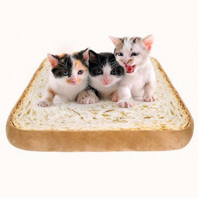 10X(Kreative Toast Brot Form Haustier Matte Kissen Schwamm Weiche Bequeme H I5H1