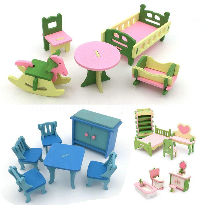 4-Conjunto-de-Accesorio-en-miniatura-casa-munecas-madera-Muebles-para-el-hoga7C9