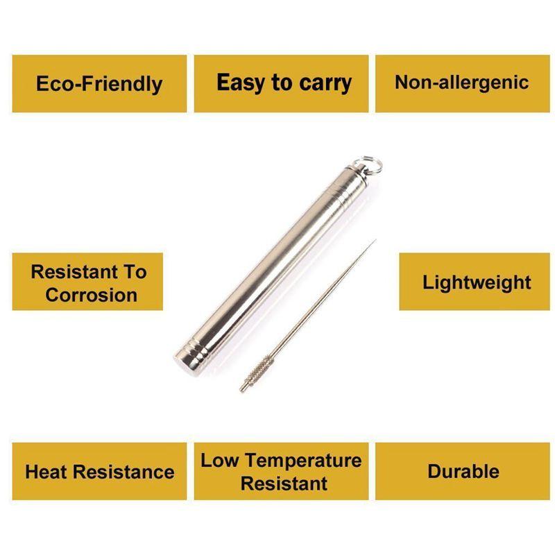 Stockage portatif portatif portatif exterieur de cure-dents d'alliage de titane + cure-dents re R8 ef62f2