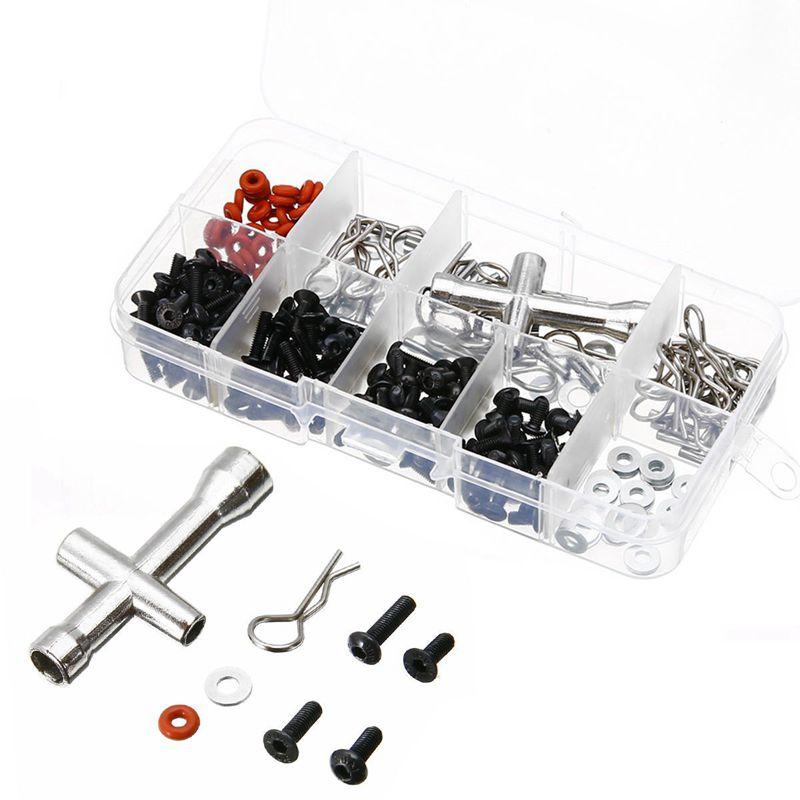 10X (270 in 1 SPECIALE Repair Tool & VITI BOX SET PER 1 10 RC AUTO FAI DA TE HSP G5T3)