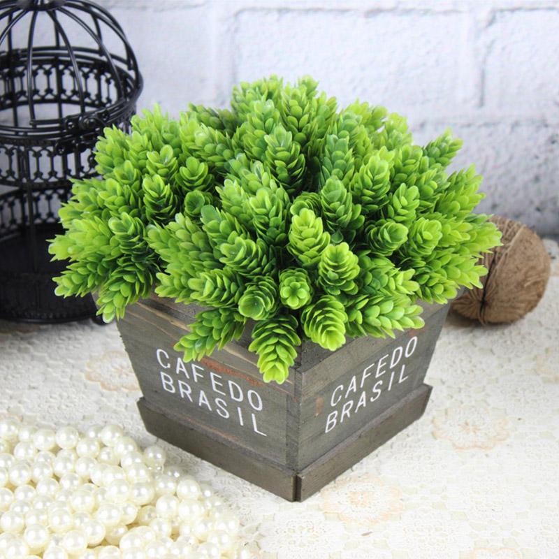 1X-Home-Decor-High-Simulation-Green-leaf-grass-Plant-Pineapple-Grass-Home-D-B7E5