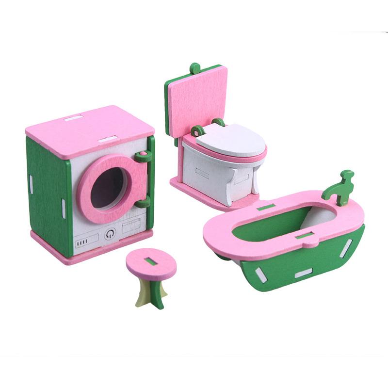 Madera Mux4 Casa Munecas Los Juguetes Bebes Para Miniatura Muebles Detalles 1 En Juego De rdxCeoB