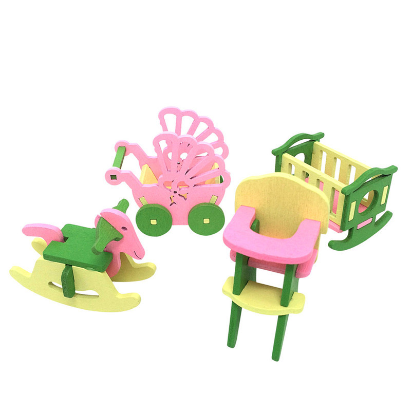 Muebles de casa de munecas de madera para los Bebes Juguetes en ...