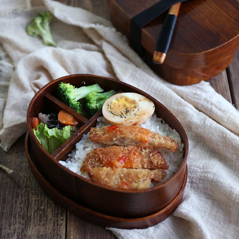 Holz-Lunch-Boxen-Lebensmittelbehaelter-Japanischen-Stil-Bento-Lunchbox-fuer-K-RU