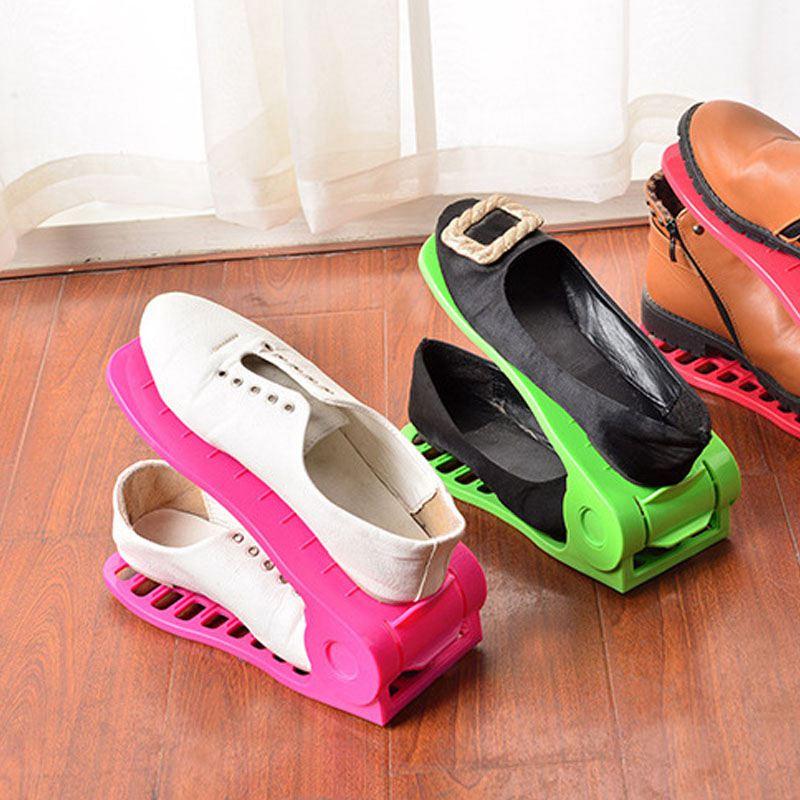 Schuhregale-Einstellbare-Moderne-Doppelreinigung-Lagerung-Schuhe-Rack-Wohnz-O1G9 Indexbild 4